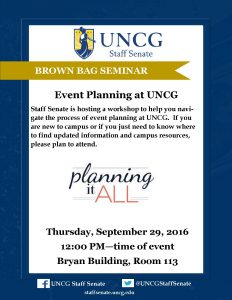 event planning at uncg