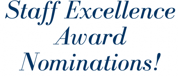 Staff Excellence Award Nominations